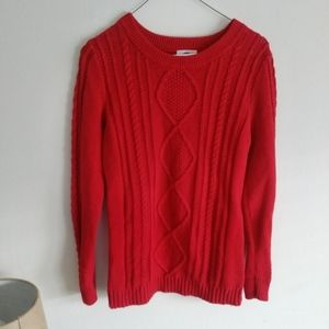 EUC cable knit sweater